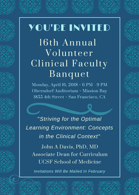 2018 UCSF VCF Banquet Invitation