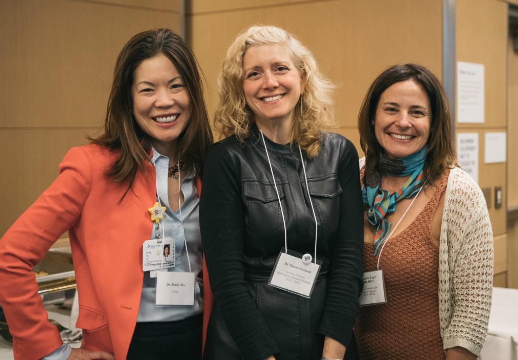Emily Hu, Jeannette Lager, Naomi Stotland at 2018 VCF Banquet