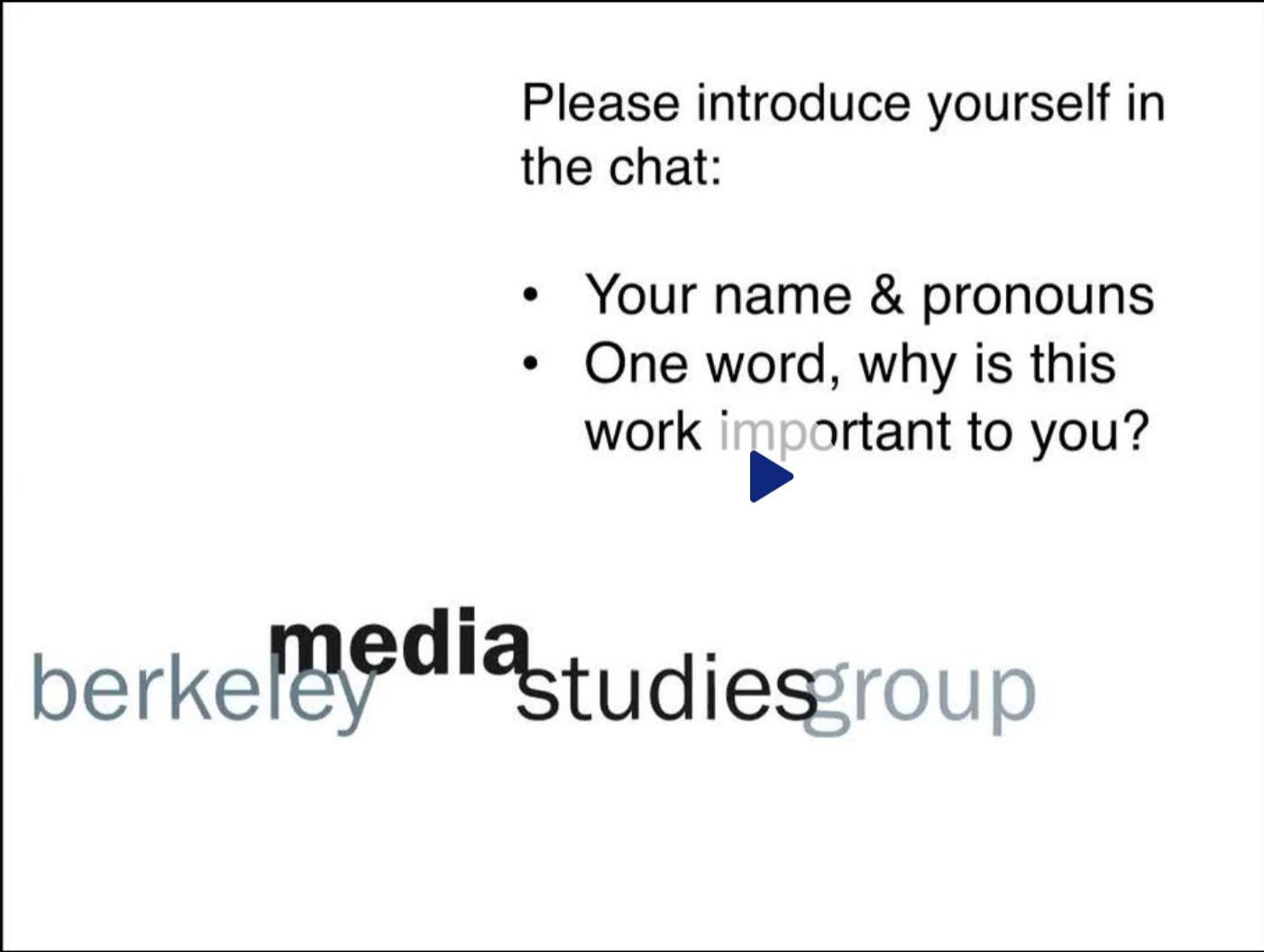 Berkeley Media Studies Group