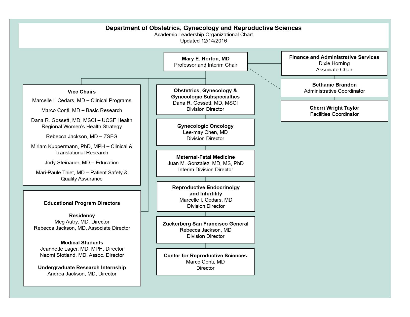 ObGynRS Academic Organizational Chart rev. 121416
